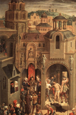 Hans Memling. Scenes from the passion of Christ. Fragment