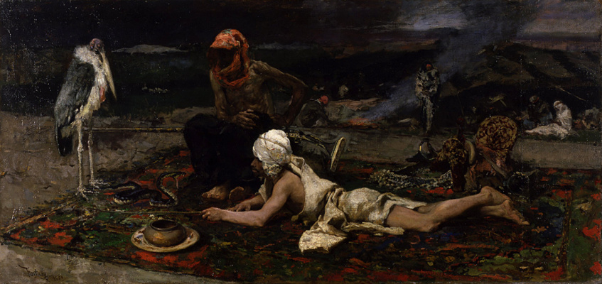 Mariano Fortuni-i-Carbo. Snake charmers