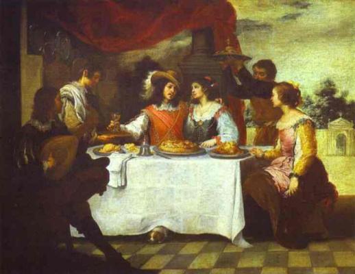 Bartolomé Esteban Murillo. The feast of the prodigal son