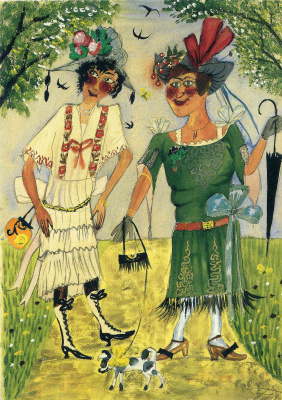 Otto Dix. Two ladies on a walk