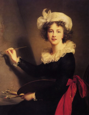 Elizabeth Vigee Le Brun. Self-portrait with palette