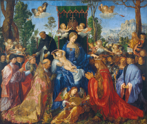 Albrecht Durer. The feast of the rosary (feast of the rose garlands)
