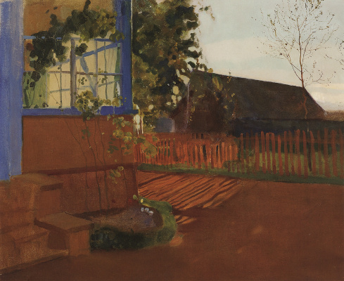 Constantin Somov. Evening landscape