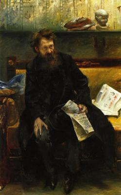 Lovis Corinto. Portrait of the poet Peter Hille