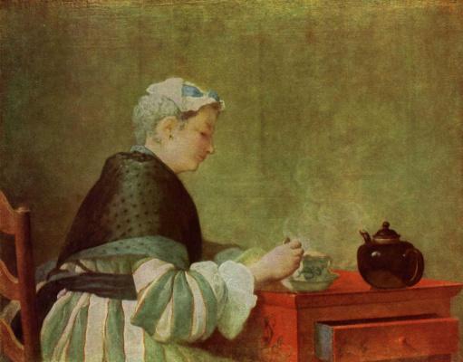 Жан Батист Симеон Шарден. Дама, пьющая чай