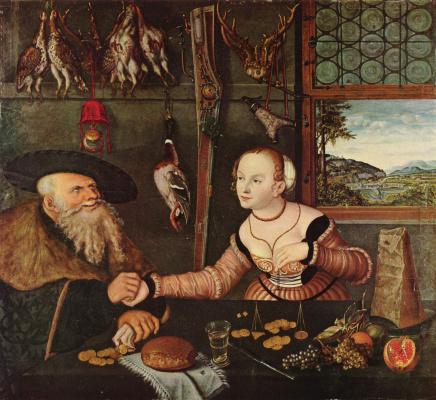 Lucas Cranach the Elder. Misalliance