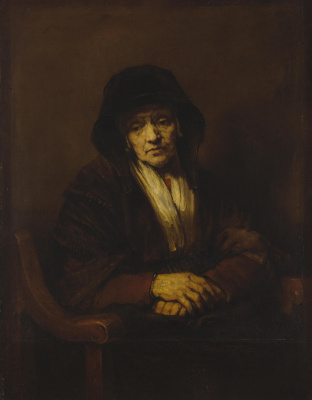 Rembrandt Harmenszoon van Rijn. Portrait of an old woman