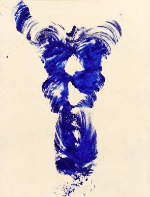 Yves Klein. Anthropometry