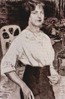 Елена Андреевна Киселева. Автопортрет