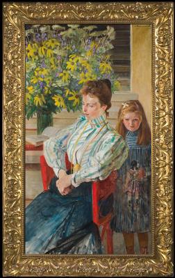 Яцек Мальчевский. Портрет Юлиановы с дочкой