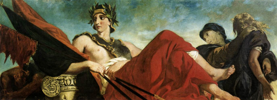 Eugene Delacroix. War (detail of a mural of the Palace of the Bourbons in Paris)