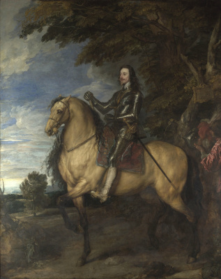 Anthony van Dyck. Equestrian portrait of Charles I