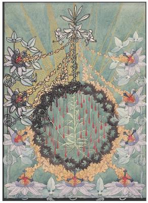 Карлос Швабе. Дизайн обложки. Страсти Христовы.  1908