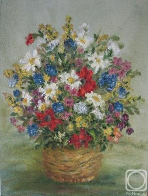 Rita Arkadievna Beckman. Wildflowers in a basket