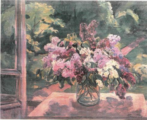 Petr Petrovich Konchalovsky. Still life. Lilacs on the window