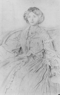 Edgar Degas. Portrait Of Ellen Oertel
