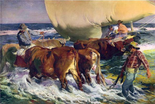 Хоакин Соролья (Соройя). Полуденное солнце. Швартовка лодки