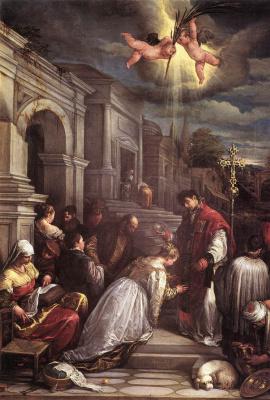 Jacopo da Ponte Bassano. The Baptism Of St. Valentine