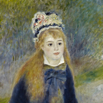 Pierre-Auguste Renoir. Walk (fragment)