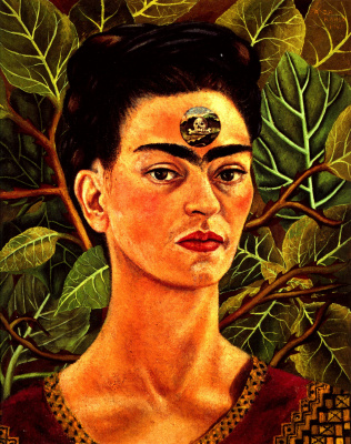 Frida Kahlo. Thinking about death