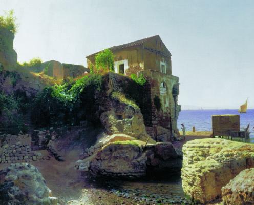 Lev Feliksovich Lagorio. On the island of Capri. Fishing Lodge