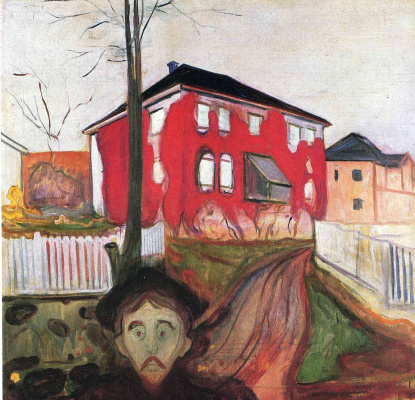 Edward Munch. Red ivy