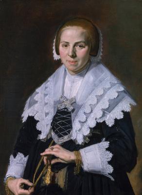 France Hals. Portrait of a woman with fan