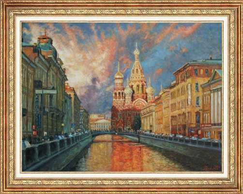 "Igor Razzhivin. ""Shades of St. Petersburg in the evening"""