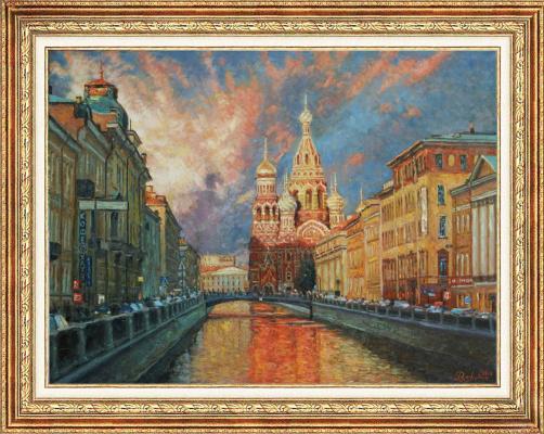 "Igor Razzhivin. ""Shades of St. Petersburg in the evening"""