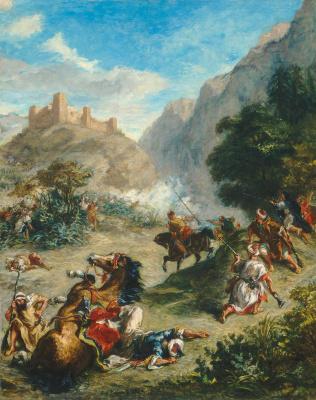 Eugene Delacroix. The Arabs skirmishing in the mountains