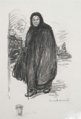 Theophile-Alexander Steinlen. The old woman