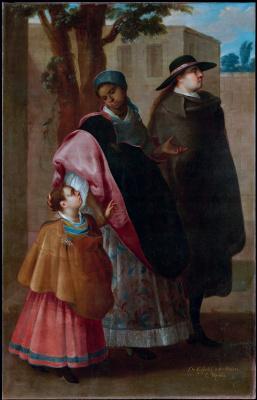 Хосе де Ибарра. Семья испанца и мулатки