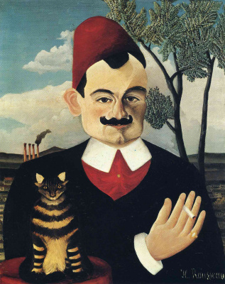 Henri Rousseau. Portrait Of Pierre Loti