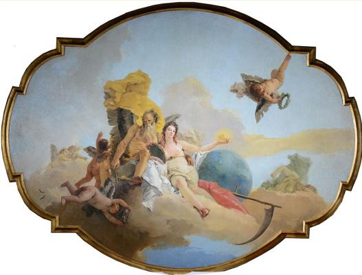 Giovanni Battista Tiepolo. The time that reveals the Truth