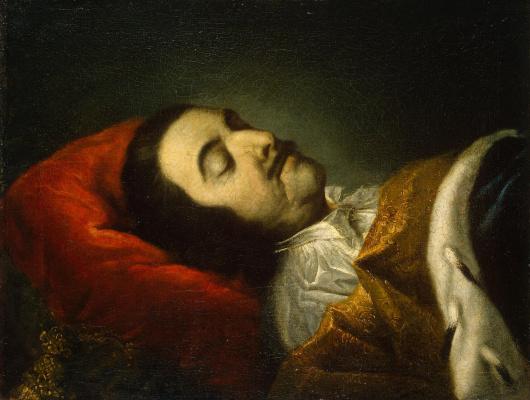 Иоганн Готфрид Таннауэр. Портрет Петра I на смертном одре