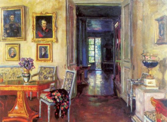 Станислав Юлианович Жуковский. Комната в доме имения Брасово