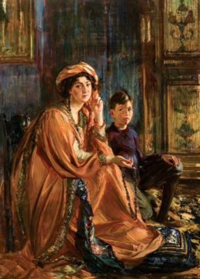 Портрет Мэйбл Додж и ее сына
