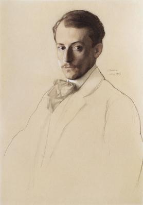 Constantin Somov. Portrait Of E. E. Lansere