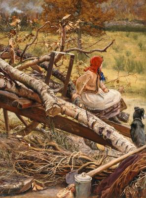 John Everett Millais. Fuel for the winter. Fragment