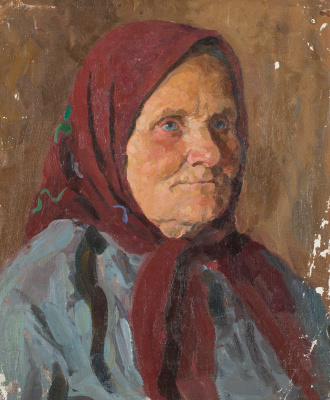 Mark Grigorievich Weinstein. Portrait of a peasant woman