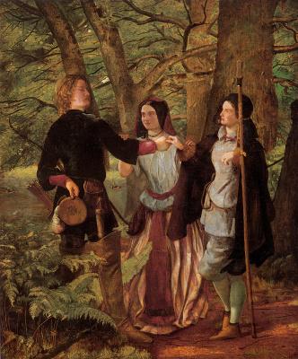 Walter Howell Deverell. Rosalind and Orlando