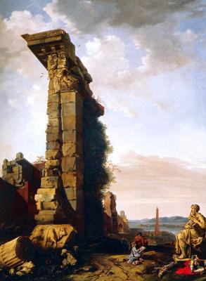 Бартоломеус Бренберг. Идеализированный вид с римскими руинами