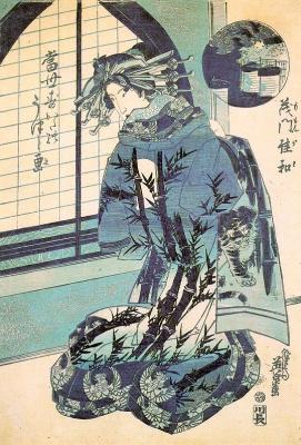Кэйсай Эйсэн. Японка в кимоно