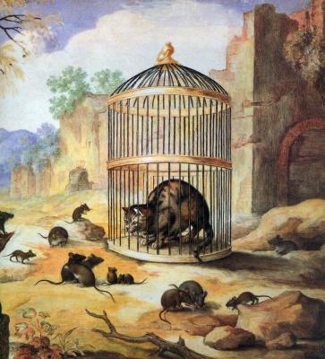 Годфрид Майн. Кошка в клетке