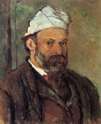 Paul Cezanne. Self portrait with a white turban