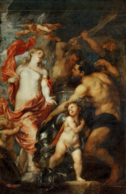 Anthony van Dyck. Venus asks Vulcan weapons for her son Aeneas