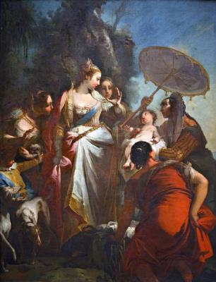 Giovanni Battista Crosato. Finding Moses.