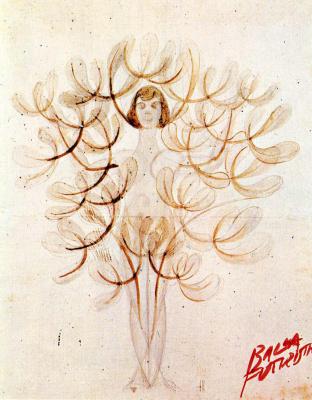 Giacomo Balla. Girl-wood