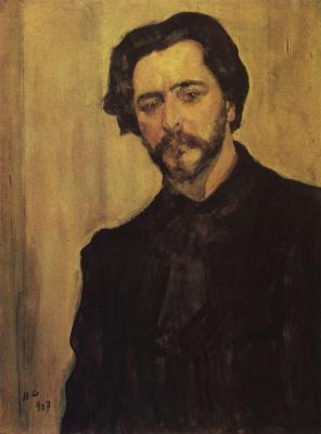 Valentin Aleksandrovich Serov. A portrait of the writer Leonid Andreyev