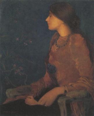 Edmond Francois Aman-Jean. Portrait Of Shadi Caroline Jacquet